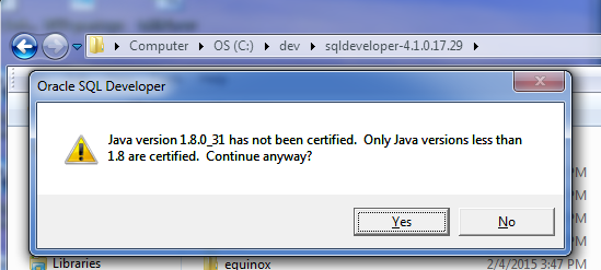 oracle-1.8-error